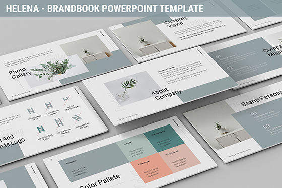 Business Models: Helena - Brandbook Powerpoint Template #06237
