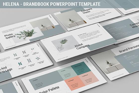Business Models: Helena - Brandbook Powerpoint Template #06237