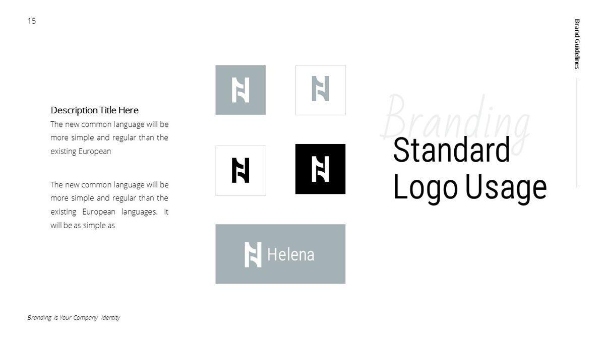 Helena - Brandbook Powerpoint Template, Slide 15, 06237, Modelli di lavoro — PoweredTemplate.com