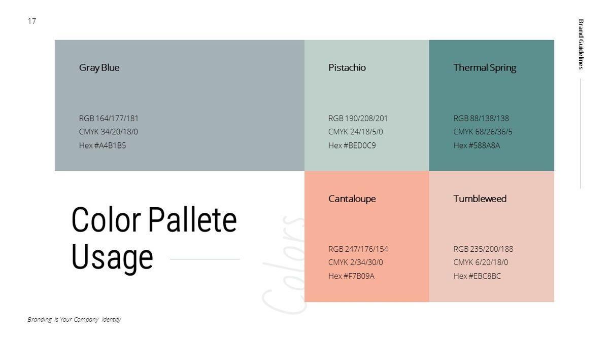 Helena - Brandbook Powerpoint Template, Slide 17, 06237, Modelli di lavoro — PoweredTemplate.com