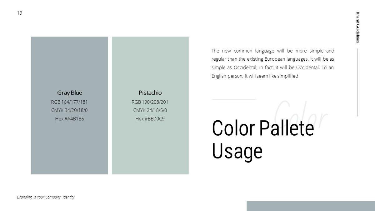 Helena - Brandbook Powerpoint Template, Slide 19, 06237, Modelli di lavoro — PoweredTemplate.com
