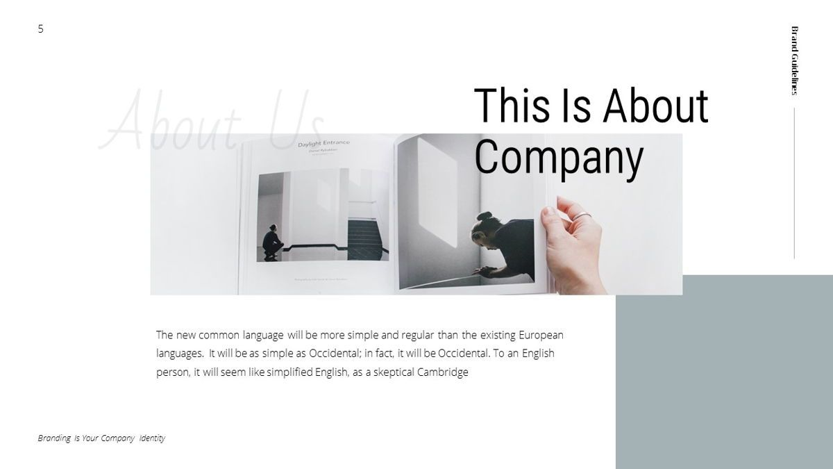 Helena - Brandbook Powerpoint Template, Slide 5, 06237, Modelli di lavoro — PoweredTemplate.com