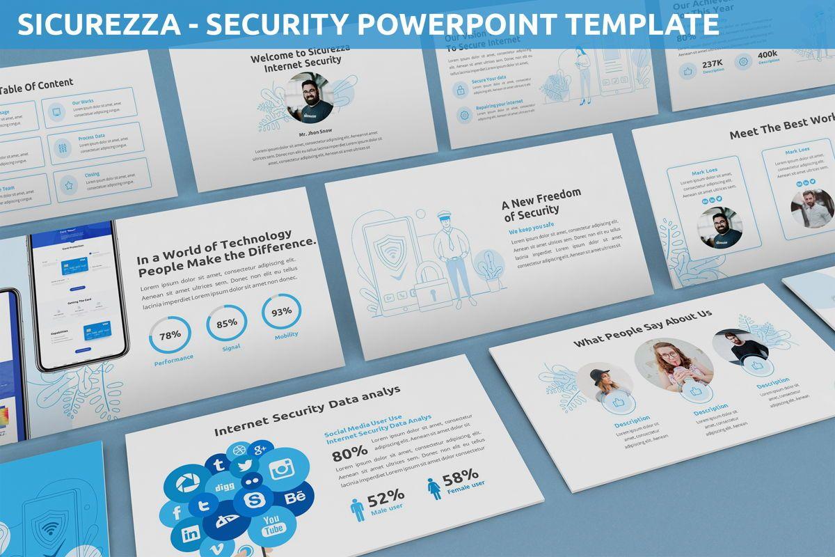 Sicurezza - Security Powerpoint Template, 06239, Business Models — PoweredTemplate.com