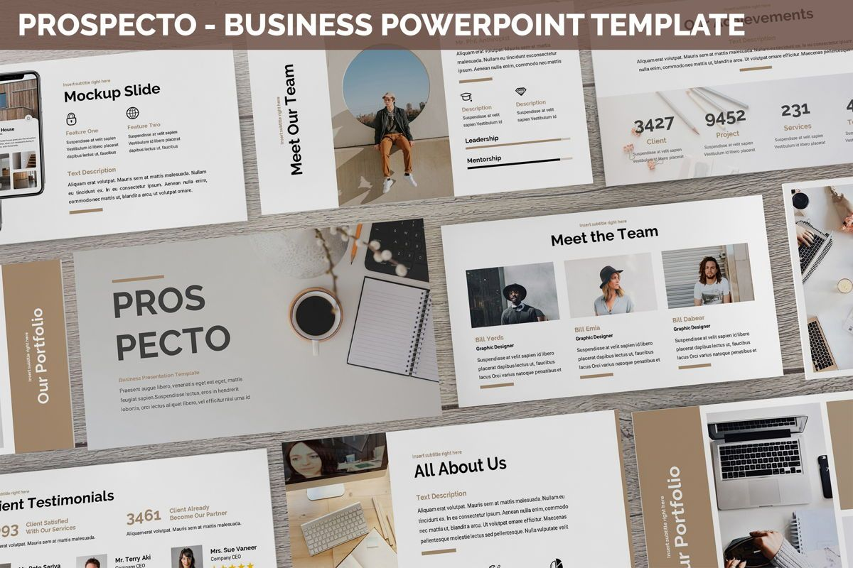 Prospecto - Business Powerpoint Template, 06240, Business Models — PoweredTemplate.com