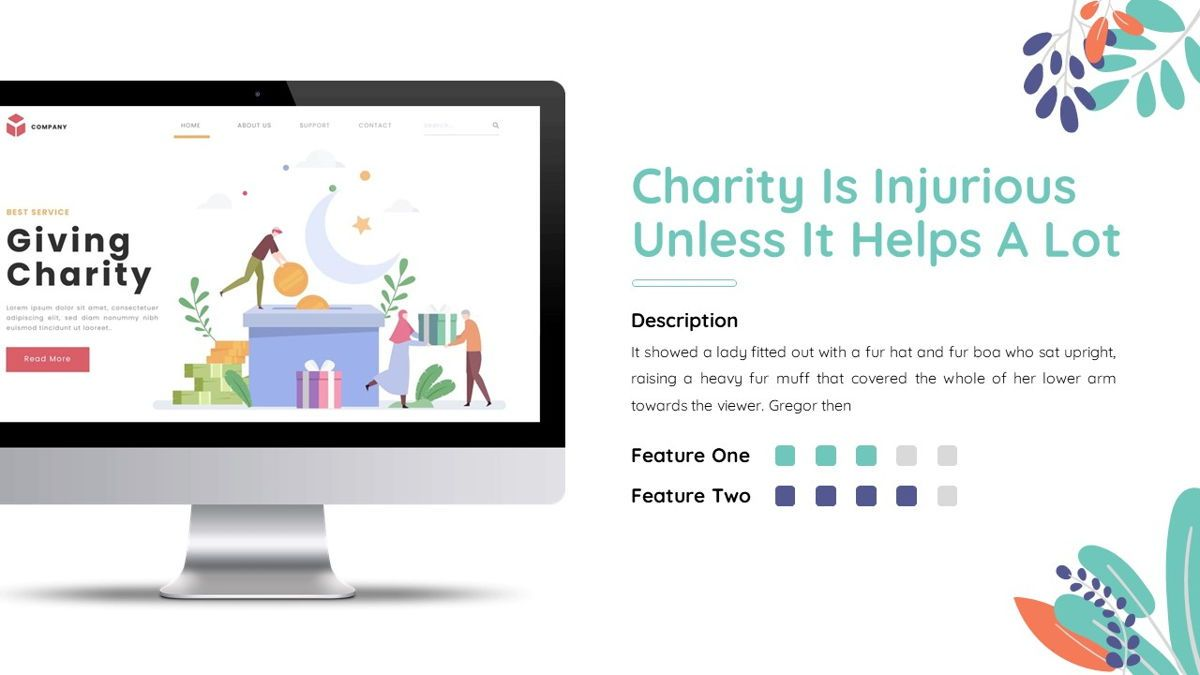 Sharee - Charity Powerpoint Template, Slide 23, 06241, Data Driven Diagrams and Charts — PoweredTemplate.com