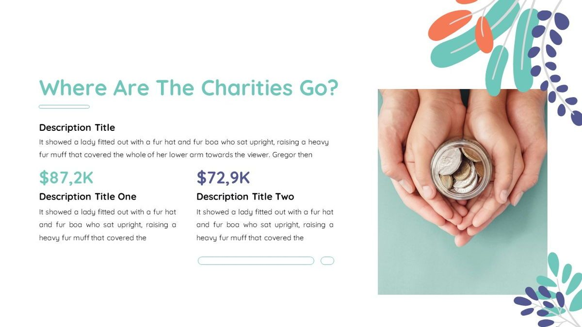 Sharee - Charity Powerpoint Template, Slide 8, 06241, Data Driven Diagrams and Charts — PoweredTemplate.com