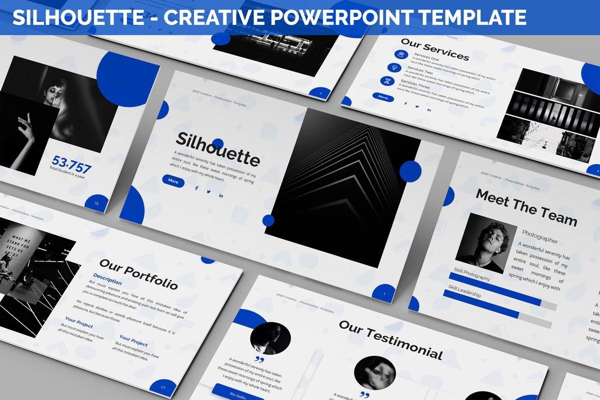 Silhouette - Creative Powerpoint Template, 06242, Business Models — PoweredTemplate.com