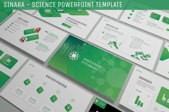 Data Driven Diagrams and Charts: Sinara - Science Powerpoint Template #06243