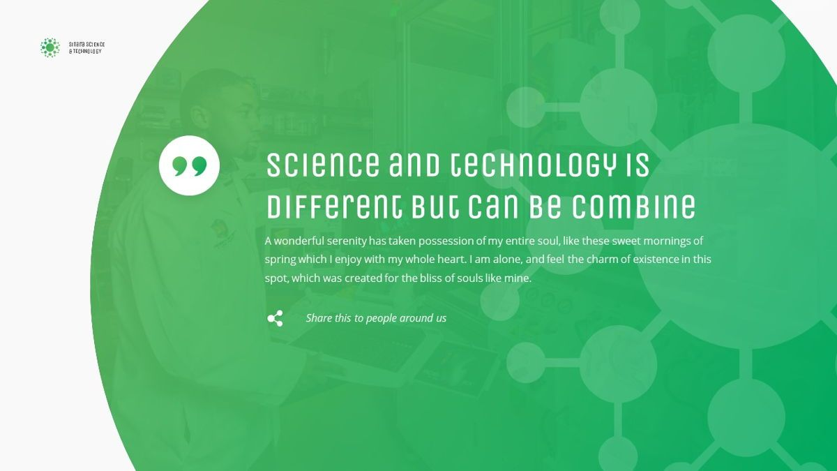 Sinara - Science Powerpoint Template, Slide 16, 06243, Data Driven Diagrams and Charts — PoweredTemplate.com
