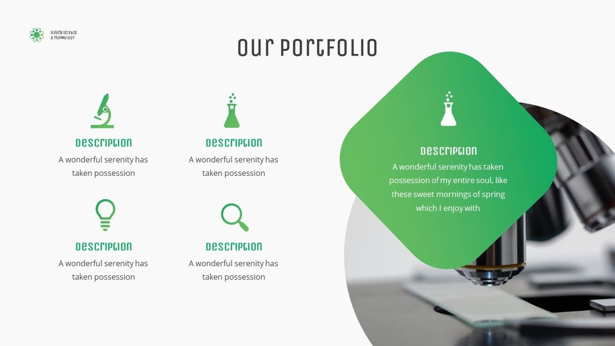 Sinara - Science Powerpoint Template, Slide 18, 06243, Data Driven Diagrams and Charts — PoweredTemplate.com