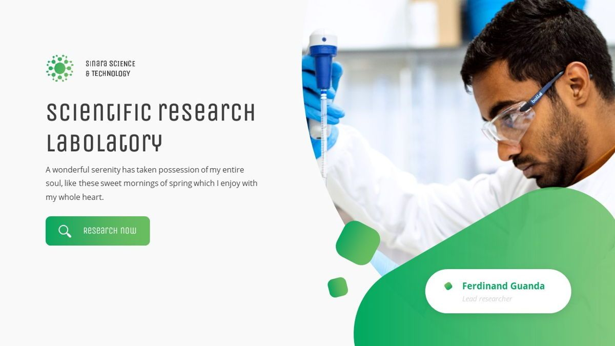 Sinara - Science Powerpoint Template, Slide 3, 06243, Data Driven Diagrams and Charts — PoweredTemplate.com