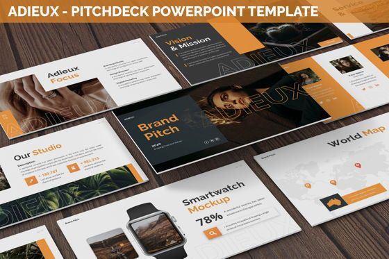 Business Models: Adieux - Pitchdeck Powerpoint Template #06244