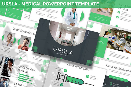 Data Driven Diagrams and Charts: Ursla - Medical Powerpoint Template #06245