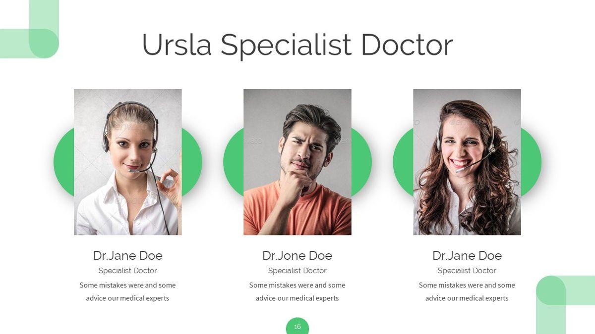Ursla - Medical Powerpoint Template, Slide 17, 06245, Data Driven Diagrams and Charts — PoweredTemplate.com
