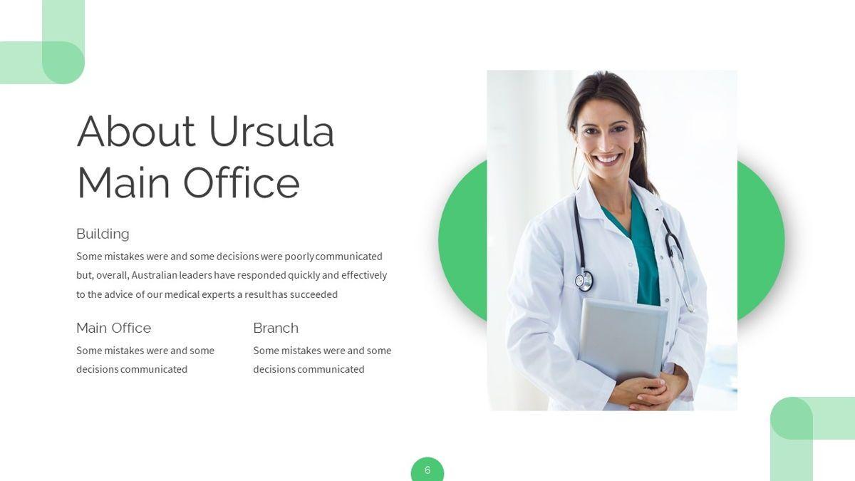 Ursla - Medical Powerpoint Template, Slide 7, 06245, Data Driven Diagrams and Charts — PoweredTemplate.com