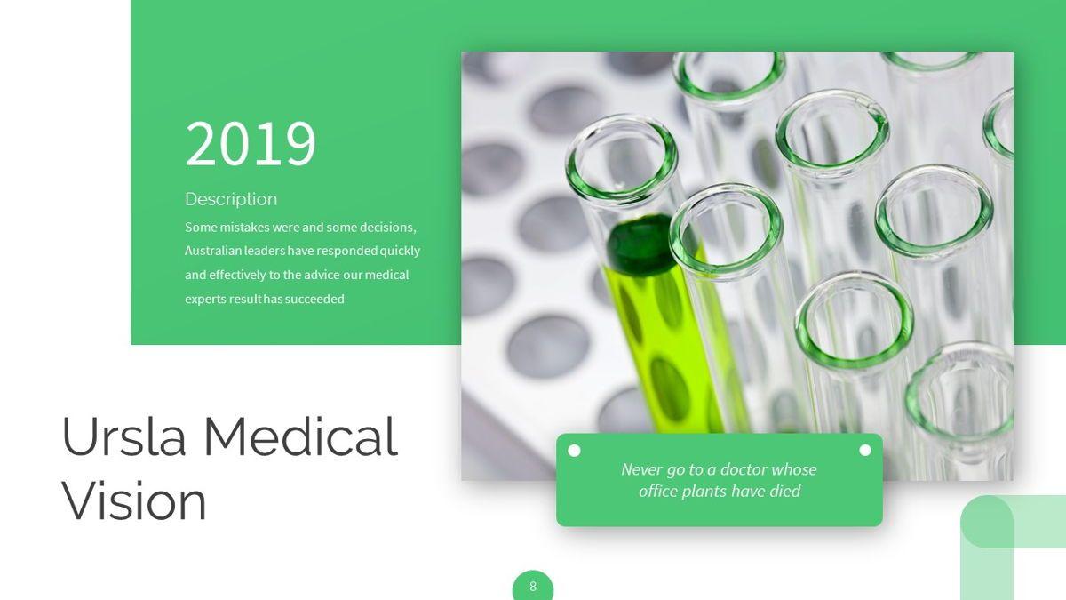 Ursla - Medical Powerpoint Template, Slide 9, 06245, Data Driven Diagrams and Charts — PoweredTemplate.com