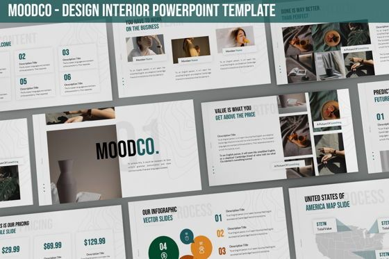 Business Models: Moodco - Design Interior Powerpoint Template #06246