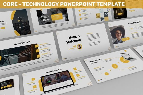 Business Models: Core - Technology Powerpoint Template #06247