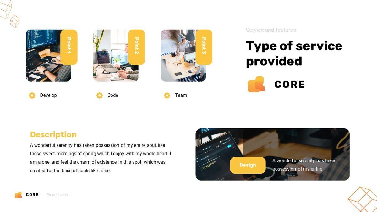 Core - Technology Powerpoint Template, Slide 10, 06247, Business Models — PoweredTemplate.com