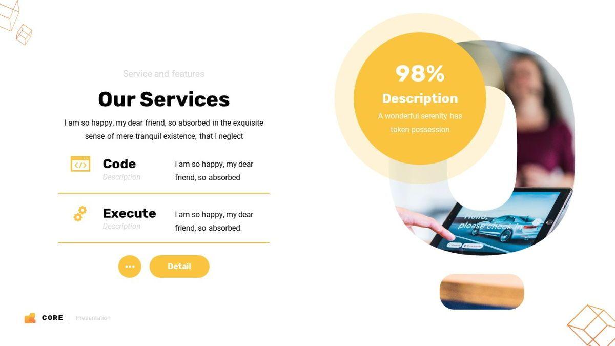 Core - Technology Powerpoint Template, Slide 11, 06247, Business Models — PoweredTemplate.com