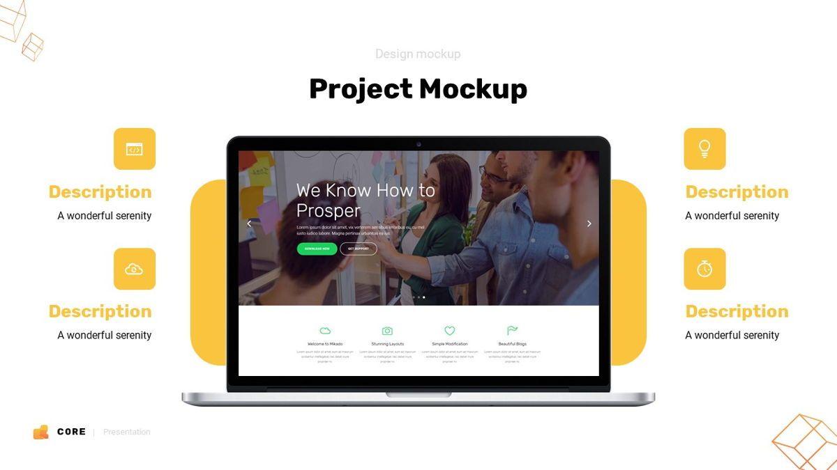 Core - Technology Powerpoint Template, Slide 21, 06247, Business Models — PoweredTemplate.com