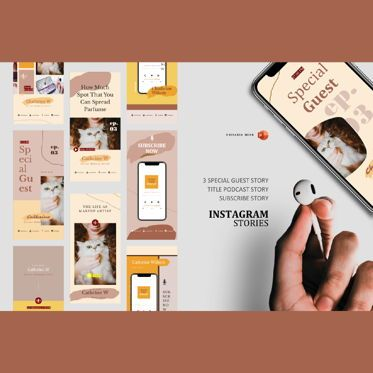 Infographics: Podcast instagram stories and post template #06249