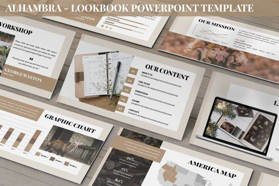 Business Models: Alhambra - Lookbook Powerpoint Template #06253