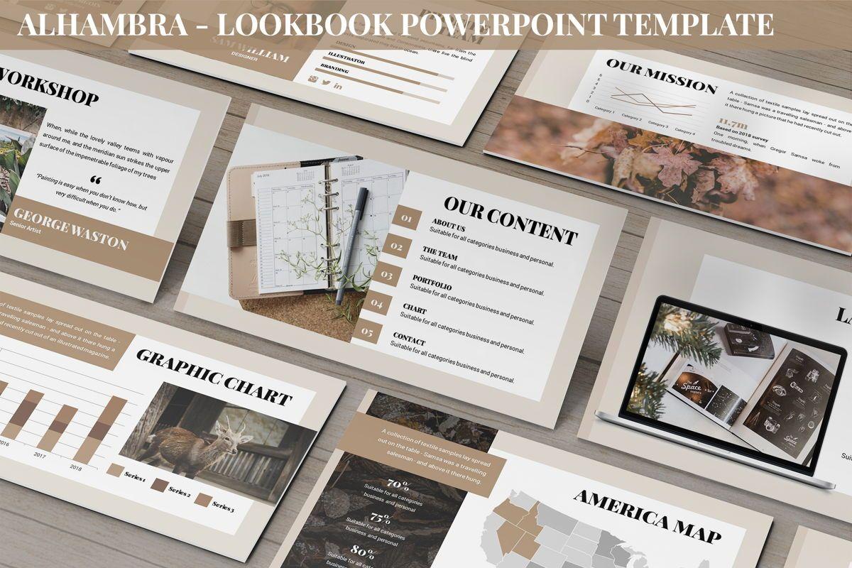 Alhambra - Lookbook Powerpoint Template, 06253, Business Models — PoweredTemplate.com