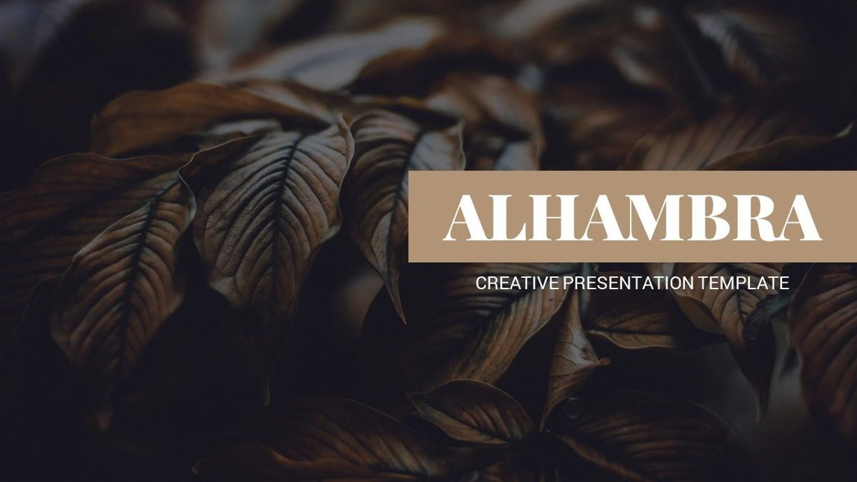 Alhambra - Lookbook Powerpoint Template, Slide 2, 06253, Business Models — PoweredTemplate.com