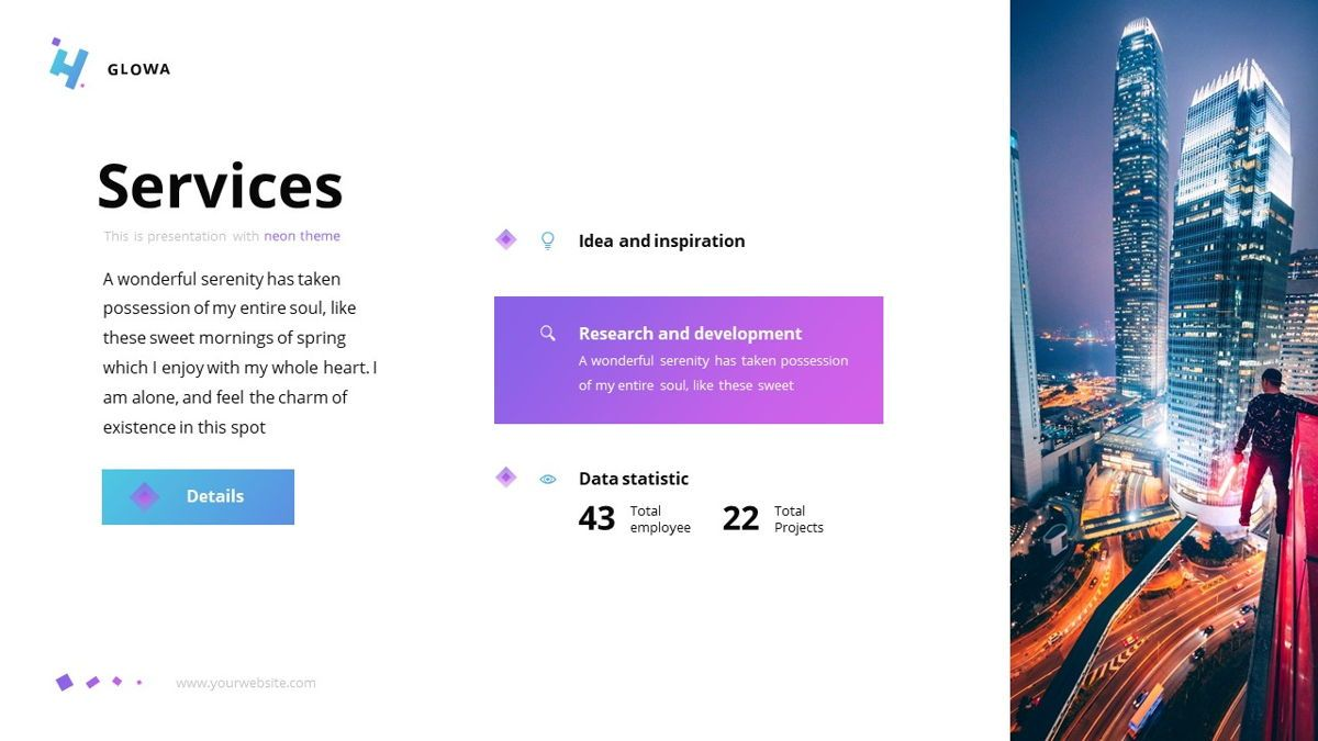 Glowa - Technology Powerpoint Template, Slide 10, 06254, Business Models — PoweredTemplate.com