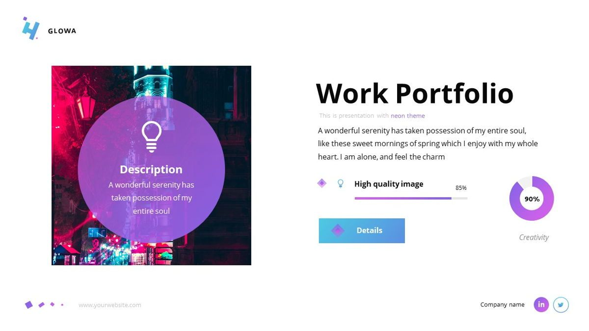 Glowa - Technology Powerpoint Template, Slide 18, 06254, Business Models — PoweredTemplate.com