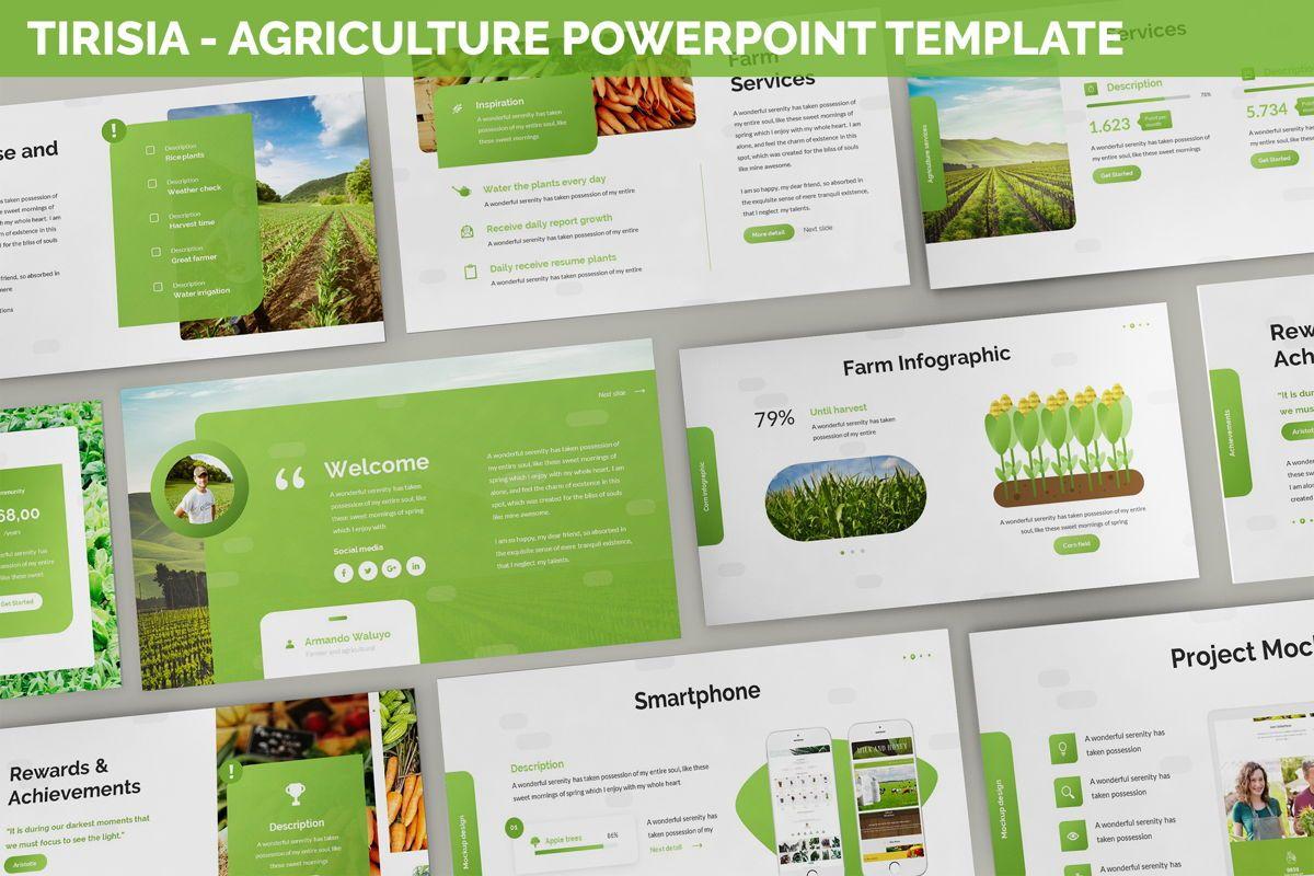 Tirisia - Agriculture Powerpoint Template, 06255, Business Models — PoweredTemplate.com