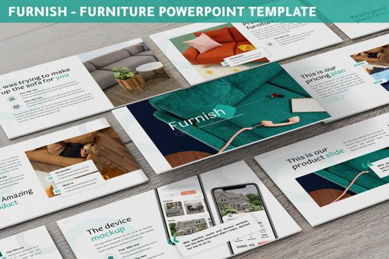Business Models: Furnish - Furniture Powerpoint Template #06256