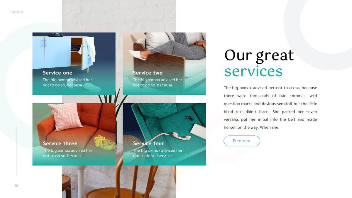 Furnish - Furniture Powerpoint Template, Slide 11, 06256, Business Models — PoweredTemplate.com