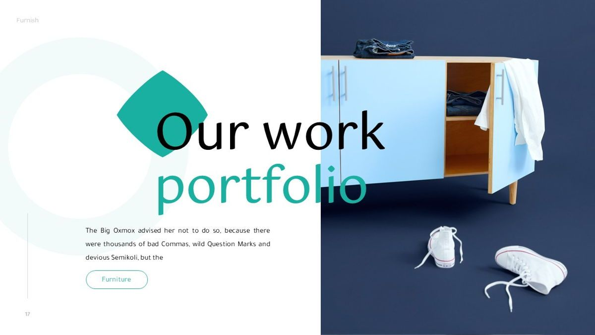Furnish - Furniture Powerpoint Template, Slide 18, 06256, Business Models — PoweredTemplate.com