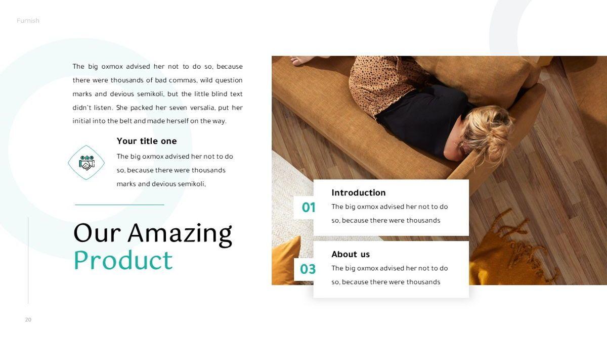 Furnish - Furniture Powerpoint Template, Slide 21, 06256, Business Models — PoweredTemplate.com
