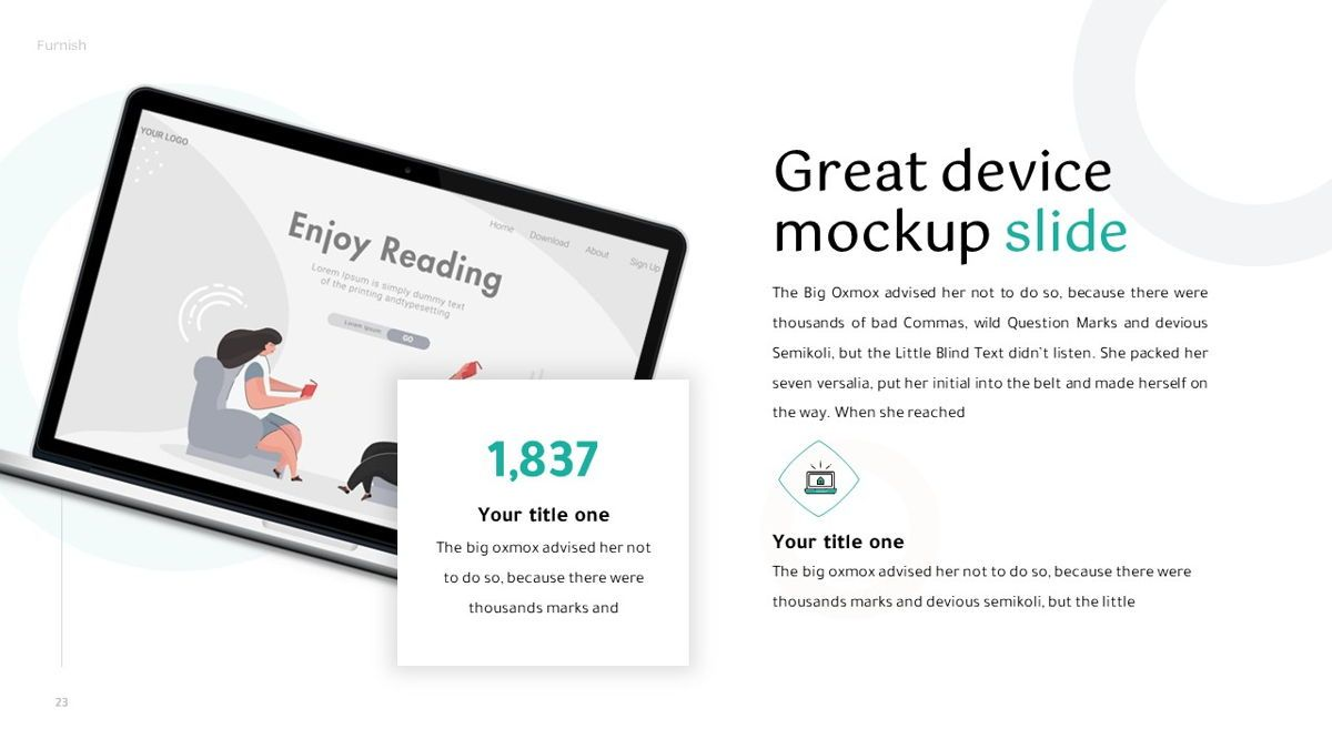 Furnish - Furniture Powerpoint Template, Slide 24, 06256, Business Models — PoweredTemplate.com