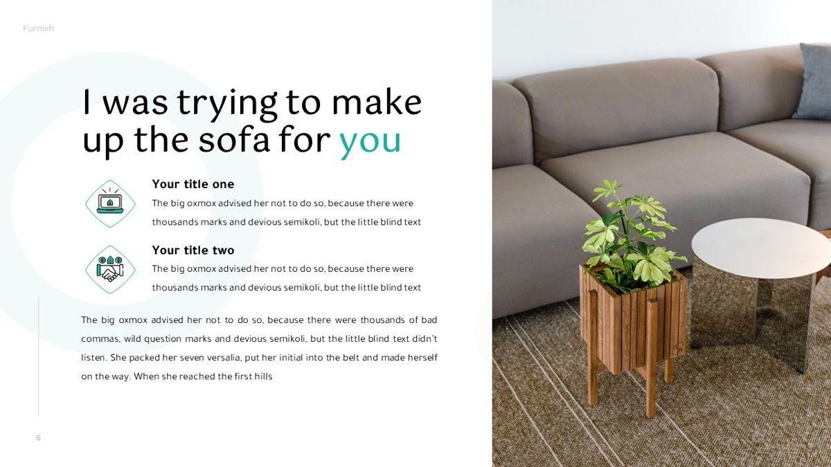 Furnish - Furniture Powerpoint Template, Slide 7, 06256, Business Models — PoweredTemplate.com