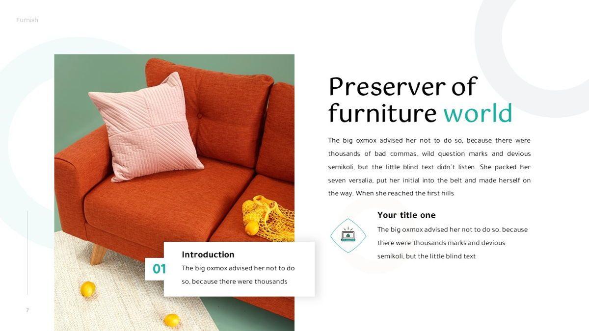 Furnish - Furniture Powerpoint Template, Slide 8, 06256, Business Models — PoweredTemplate.com