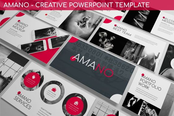 Data Driven Diagrams and Charts: Amano - Creative Powerpoint Template #06257