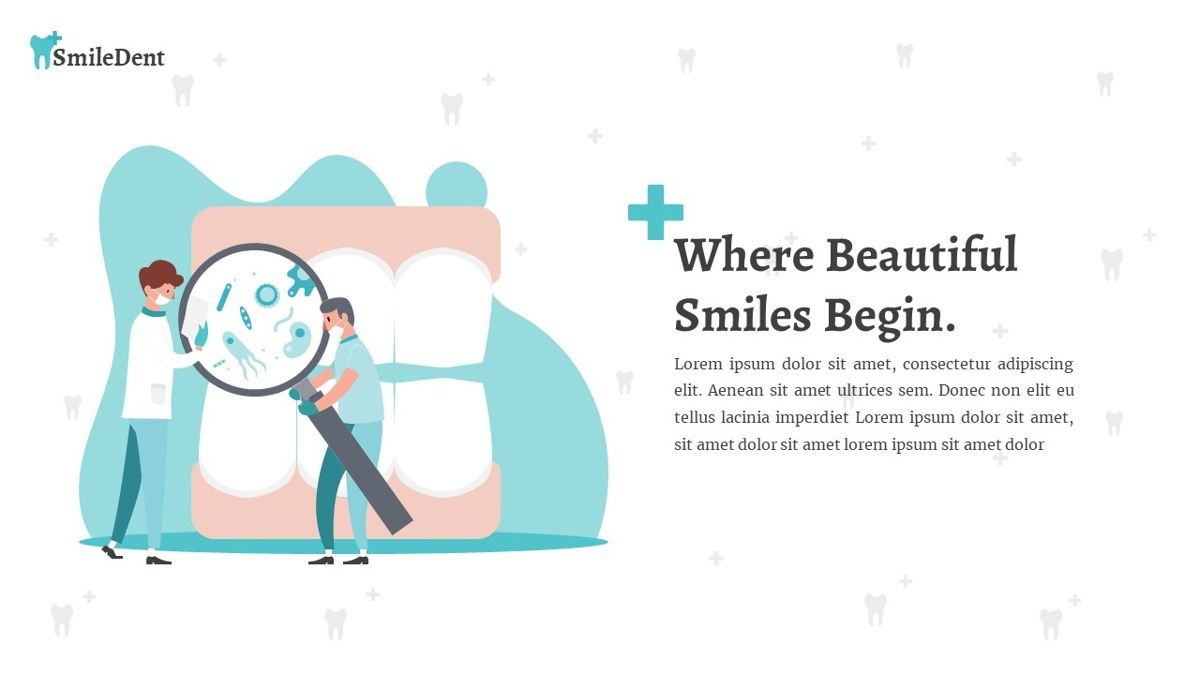 SmileDent - Dentist Powerpoint Template, Slide 13, 06260, Data Driven Diagrams and Charts — PoweredTemplate.com