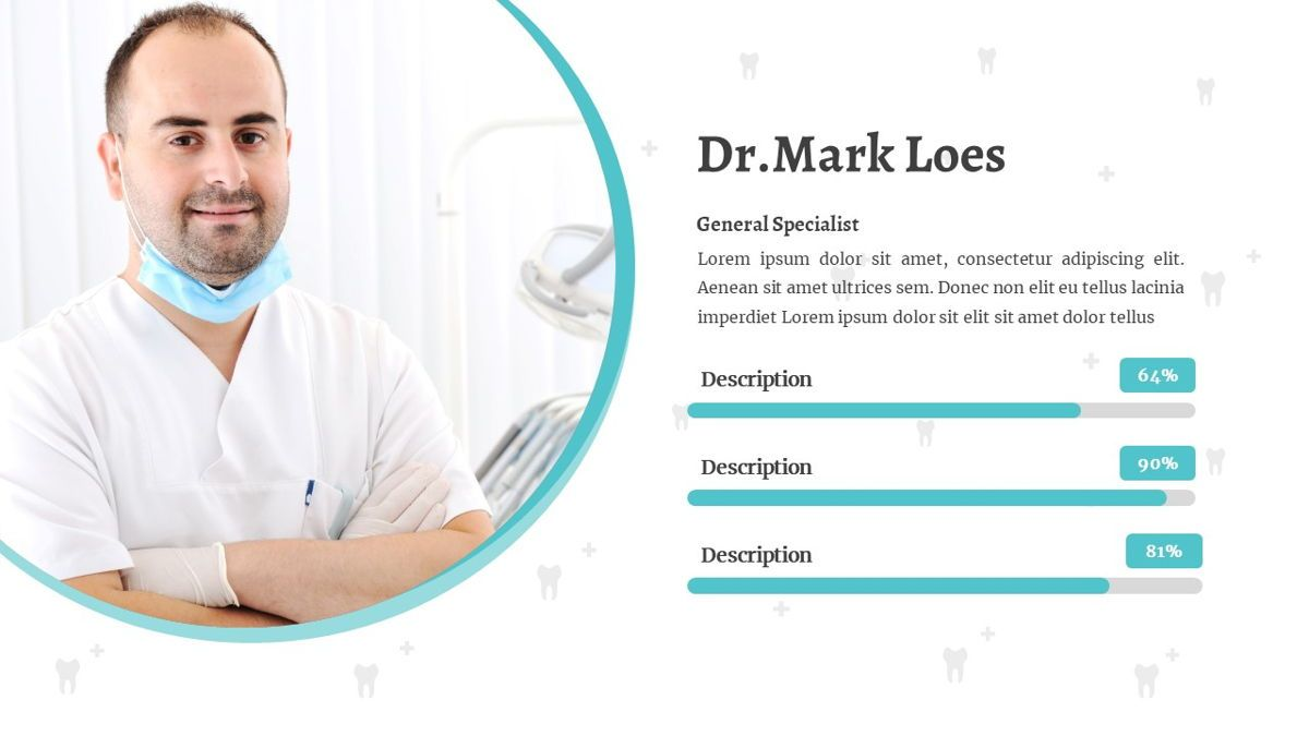 SmileDent - Dentist Powerpoint Template, Slide 16, 06260, Data Driven Diagrams and Charts — PoweredTemplate.com