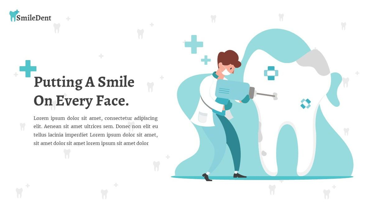 SmileDent - Dentist Powerpoint Template, Slide 17, 06260, Data Driven Diagrams and Charts — PoweredTemplate.com