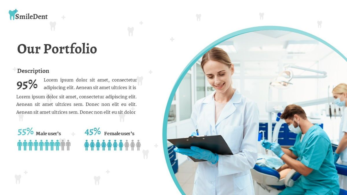 SmileDent - Dentist Powerpoint Template, Slide 18, 06260, Data Driven Diagrams and Charts — PoweredTemplate.com
