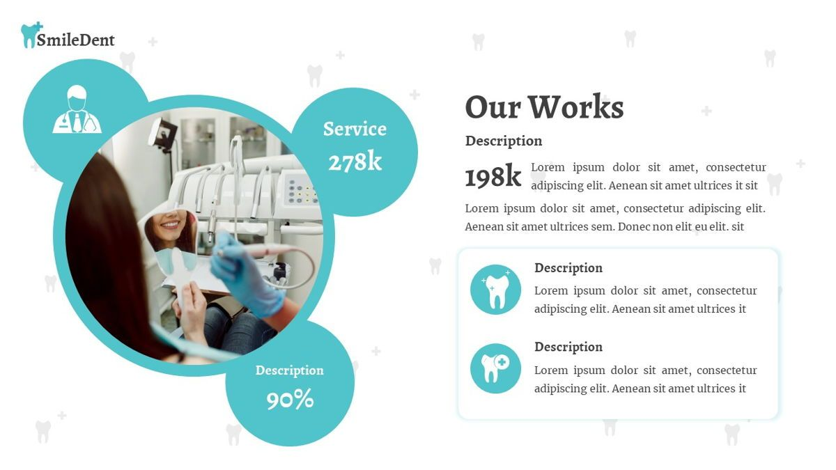 SmileDent - Dentist Powerpoint Template, Slide 19, 06260, Data Driven Diagrams and Charts — PoweredTemplate.com