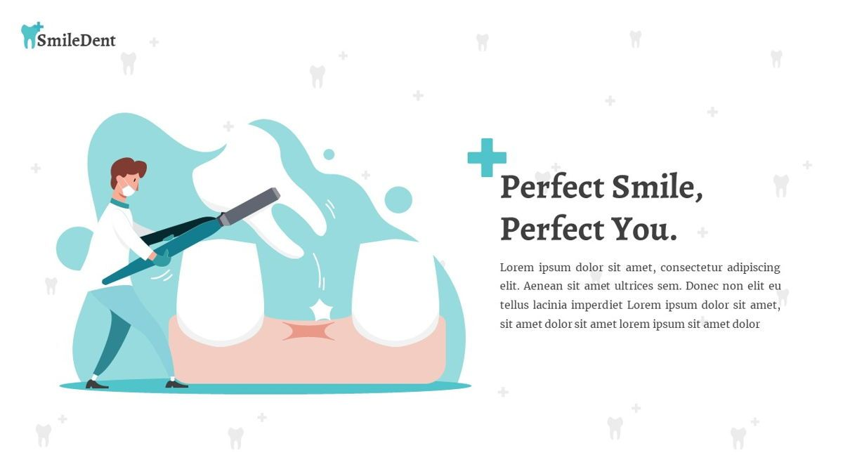 SmileDent - Dentist Powerpoint Template, Slide 22, 06260, Data Driven Diagrams and Charts — PoweredTemplate.com