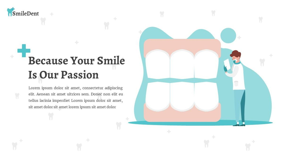 SmileDent - Dentist Powerpoint Template, Slide 5, 06260, Data Driven Diagrams and Charts — PoweredTemplate.com