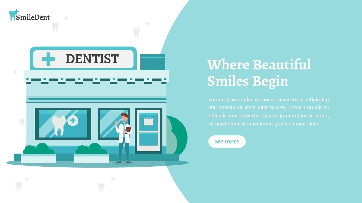 SmileDent - Dentist Powerpoint Template, Slide 6, 06260, Data Driven Diagrams and Charts — PoweredTemplate.com