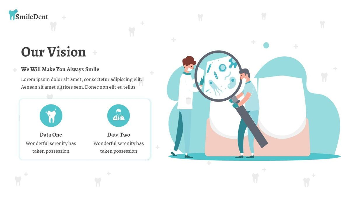SmileDent - Dentist Powerpoint Template, Slide 7, 06260, Data Driven Diagrams and Charts — PoweredTemplate.com