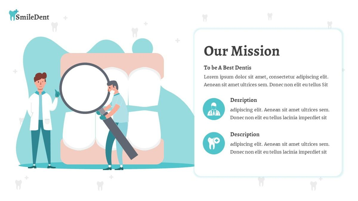 SmileDent - Dentist Powerpoint Template, Slide 8, 06260, Data Driven Diagrams and Charts — PoweredTemplate.com